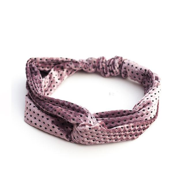 Bandana-oud-roze-velours