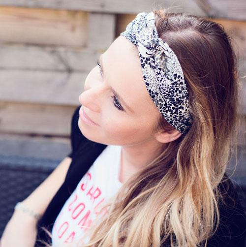 Haarband-bandana-panter