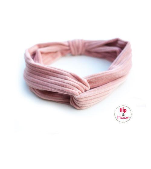 Haarband-ribstof-oud-roze