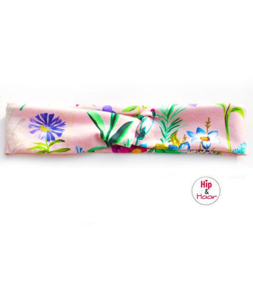 Haarband-meisjes-roze-met-bloemen