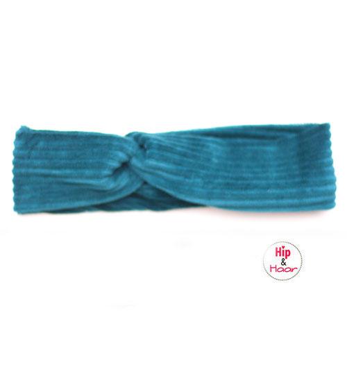 Ribstof-haarband-donker-blauw-groen