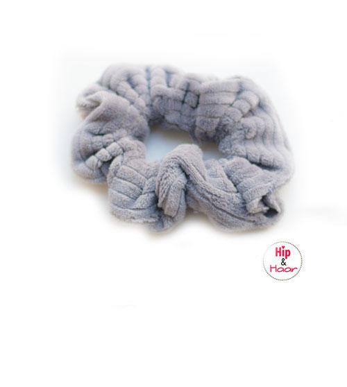 Ribstof-scrunchie-licht-grijs