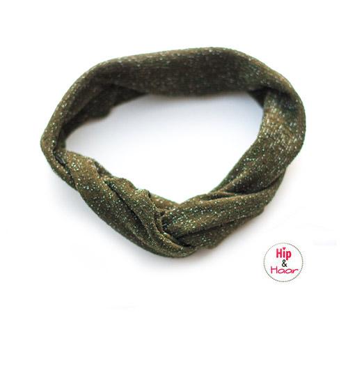 Haarband-ijzerdraad-leger-groen-met-zilver