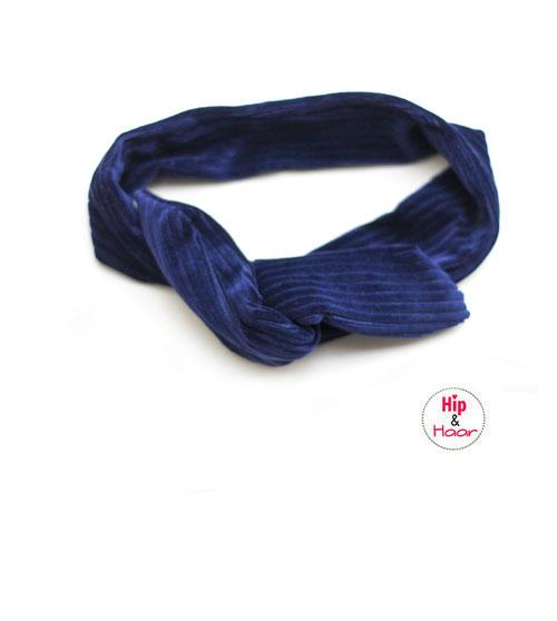 haarband-dames-ijzerdraad-ribstof-donker-blauw