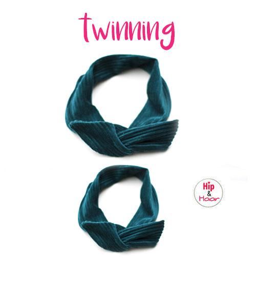 twinning-haarbanden-vintage-groen