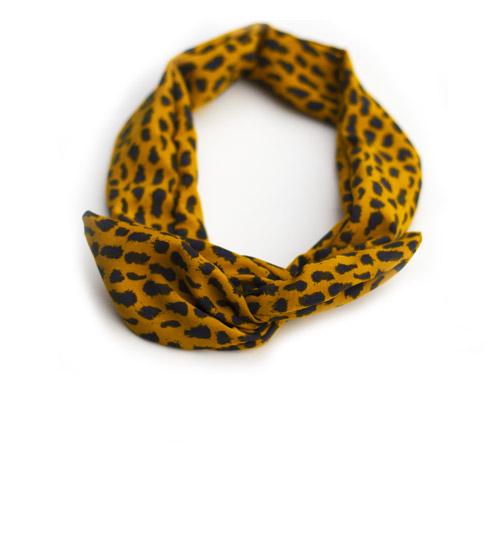 ijzerdraad-haarband-oker-geel-met-print