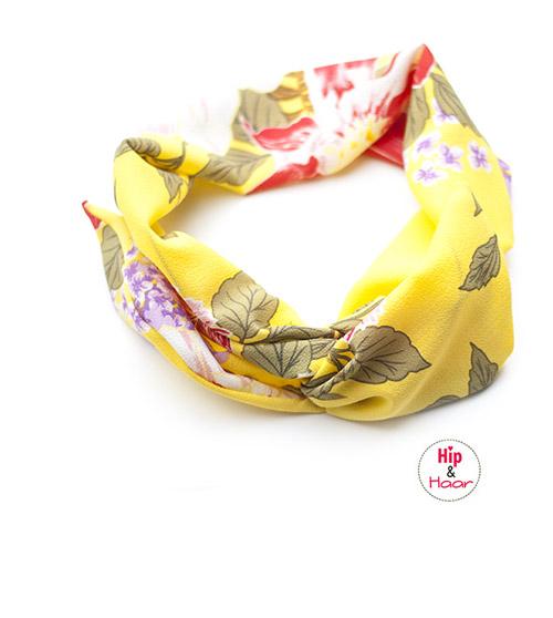 Bandana-haarband-zomers-geel