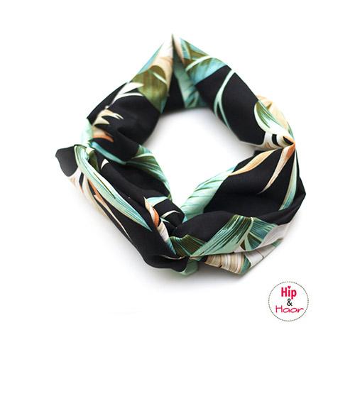 Bandeau-haarband-ijzerdraad-tropical-leafs