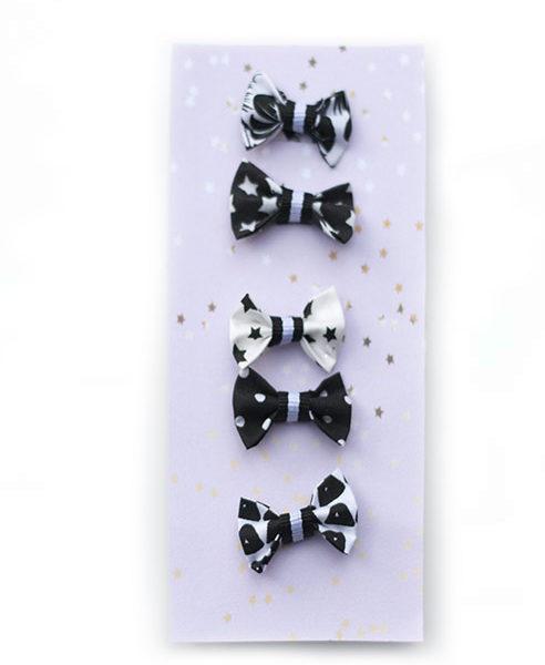 Haarelastiekjes-baby-zwart-wit