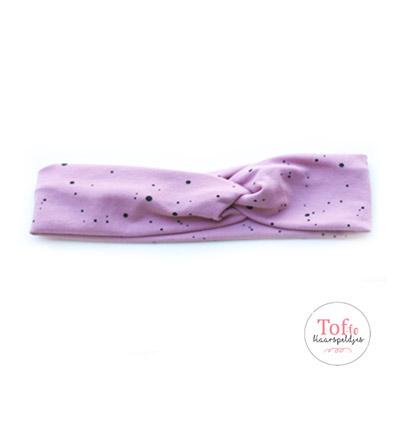 Meisjes-haarband-roze-met-stippen