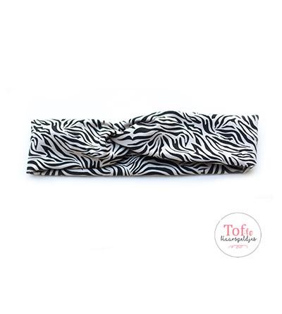 Meisjes-haarband-zebra-print-creme