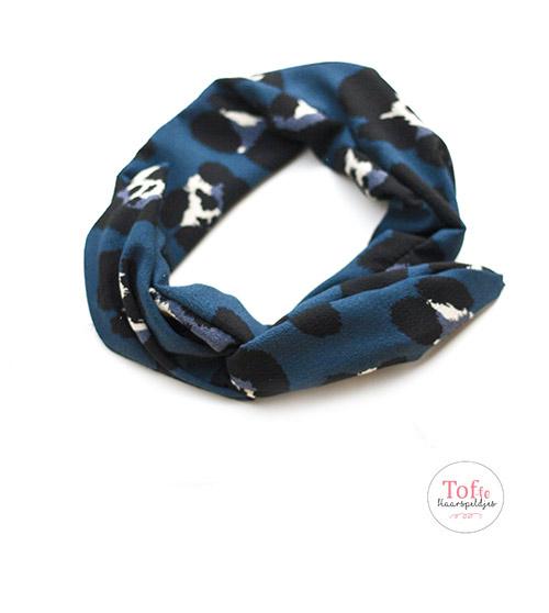 ijzerdraad-haarband-blauw-met-print