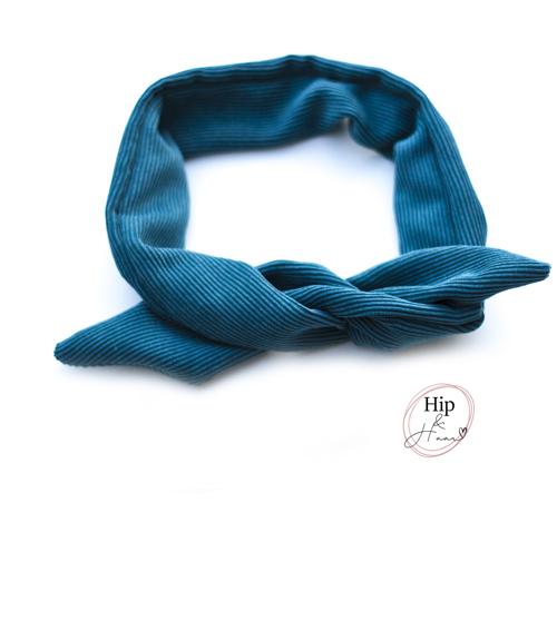 Bandana-haarband-blauw-ribstof