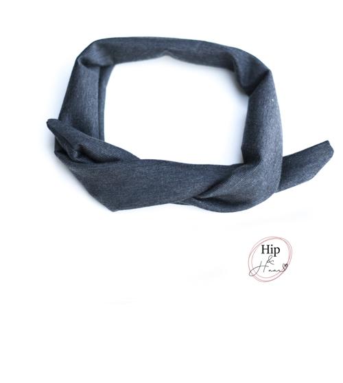Bandana-haarband-donker-grijs