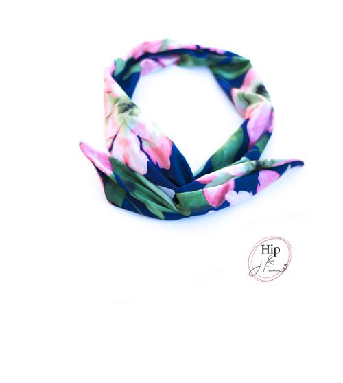 Bandeau-haarband-roze-en-blauw-satijn