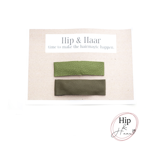 Haarspelden-leer-duo-groen