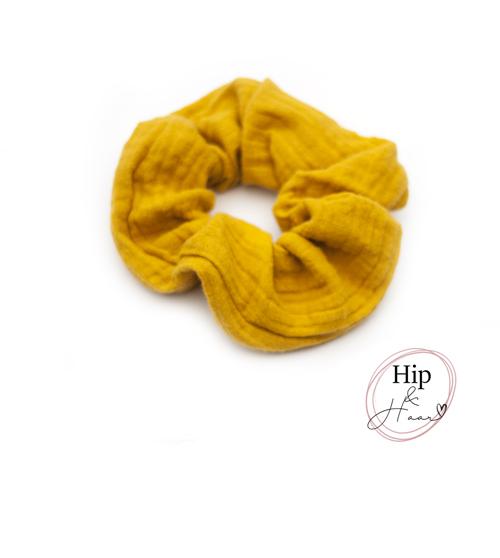 Scrunchie-cotton-oker
