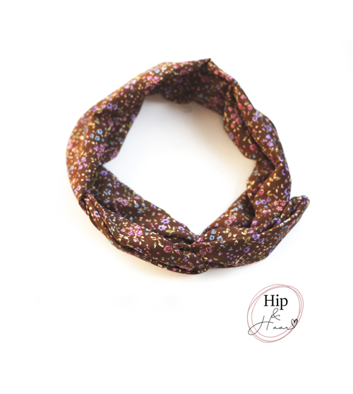 boho-ijzerdraad-haarband-bruin-met-bloemetjes