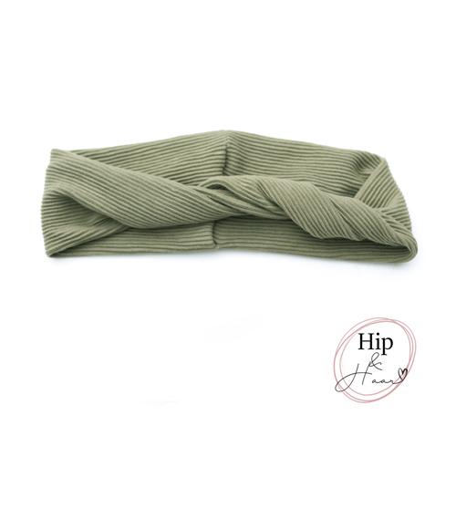 Twist-bandeau-haarband-rib-olijf-groen