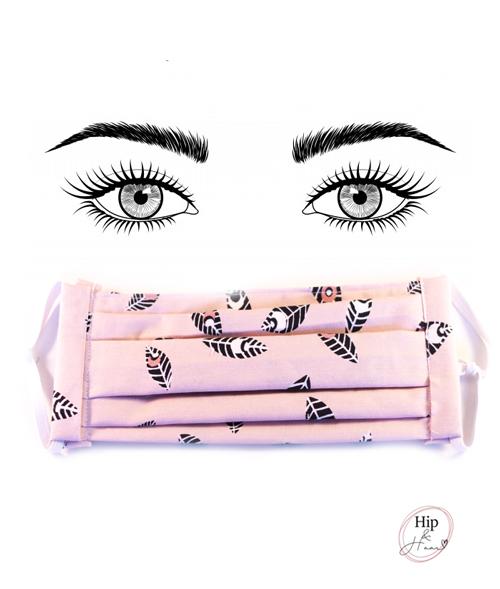 mondkapje-roze-met-veertjes