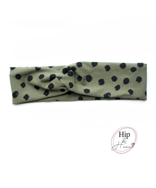 Kinder-haarband-army-groen-spots