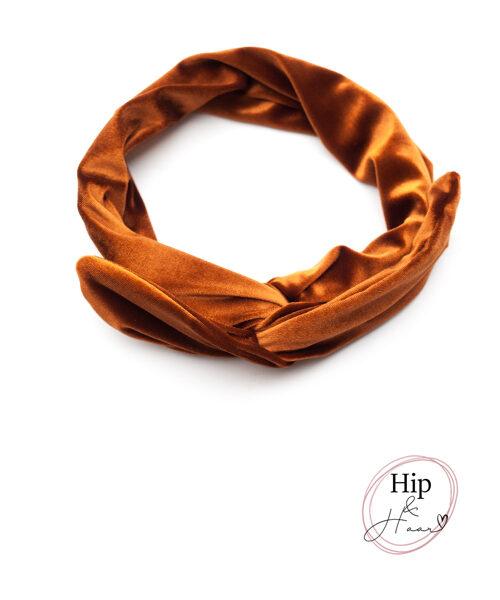 ijzerdraad-haarband-velours-flaming-oranje-bruin