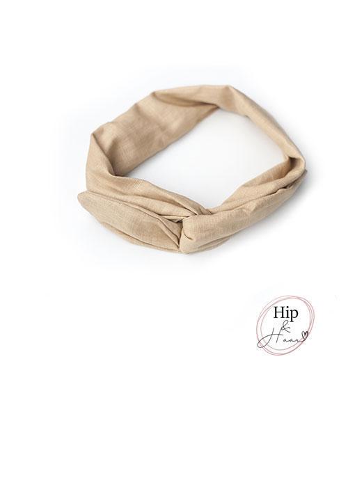 Haarband-ijzerdraad-linnen-Zand