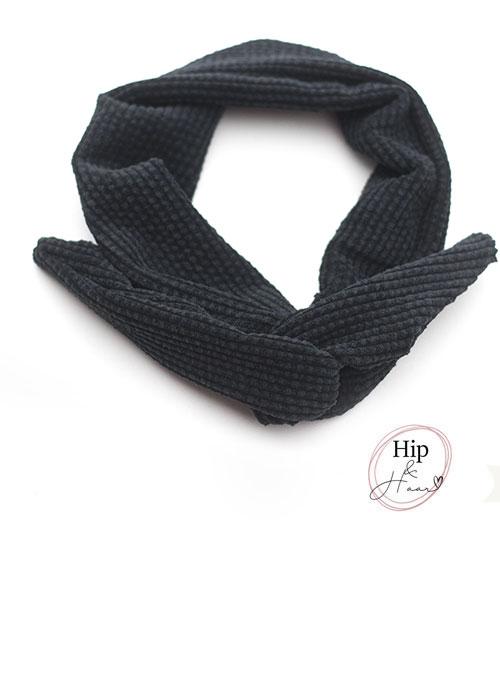 Draad-haarband-rib-zwart