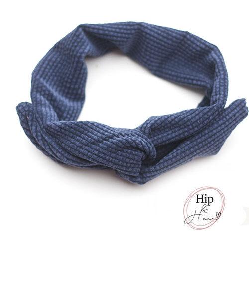 Draad-haarband-ribstof-blauw