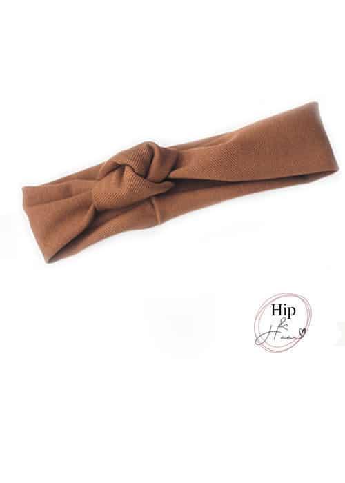 Knoop-haarband-Bruin