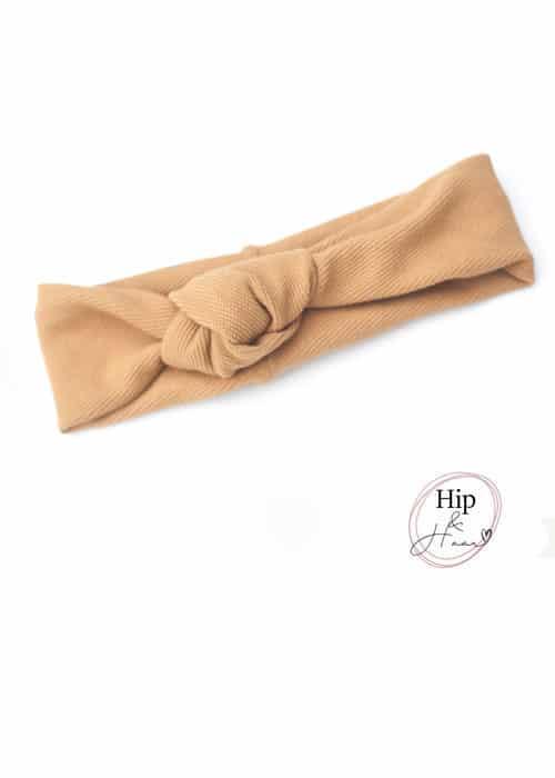 Knoop-haarband-camel